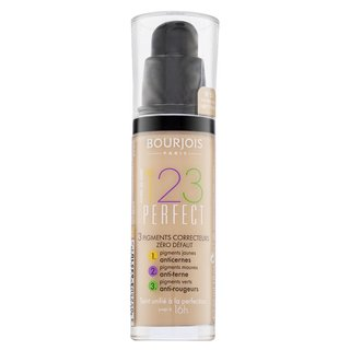 Bourjois 123 Perfect Foundation 51 Light Vanilla tekutý make-up proti nedokonalostiam pleti 30 ml