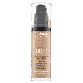 Bourjois 123 Perfect Foundation 55 Dark Beige tekutý make-up proti nedokonalostiam pleti 30 ml