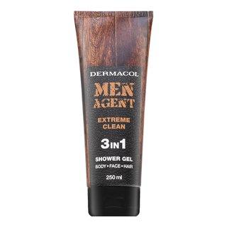Dermacol Men Agent Extreme Clean 3in1 Shower Gel sprchový gél pre mužov 250 ml