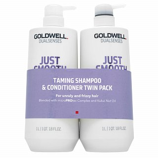 Goldwell Dualsenses Just Smooth Taming Duo sada pre nepoddajné vlasy 2 x 1000 ml