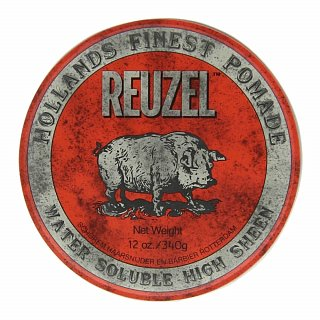 Reuzel Hollands Finest Pomade Red Water Soluble High Sheen pomáda na vlasy pre žiarivý lesk 340 g
