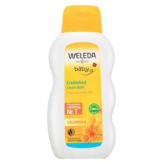 Weleda Baby Calendula Cream Bath relaxačný kúpeľový a sprchový gél s esenciálnymi olejmi pre deti 200 ml
