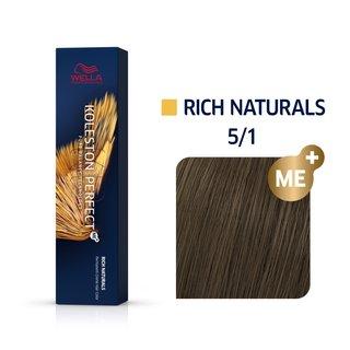 Wella Professionals Koleston Perfect Me+ Rich Naturals profesionálna permanentná farba na vlasy 5/1 60 ml
